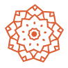 orange mandala icon